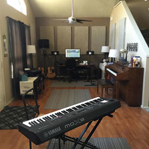 Jacqueline Courson's home studio for recording and piano lessons
